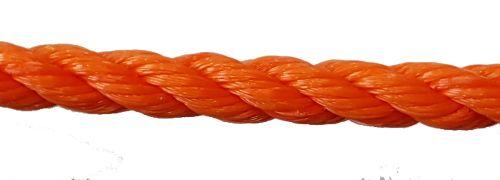 10mm Orange Polyethylene Rope - per metre