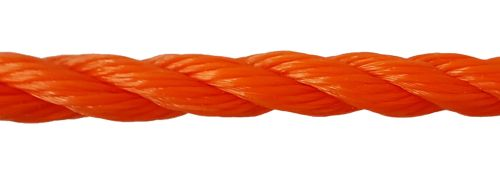 14mm Orange Polyethylene Rope - per metre