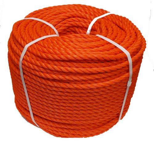 14mm Orange Polyethylene Rope - 220m coil