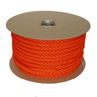 12mm Orange Polyethylene Rope - 50m reel