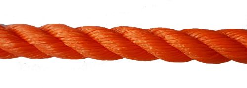 18mm Orange Polyethylene Rope - per metre