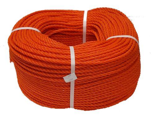6mm Orange Polyethylene Rope - 220m coil