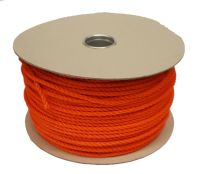 8mm Orange Polyethylene Rope - 100m reel