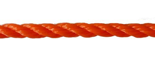 8mm Orange Polyethylene Rope - per metre