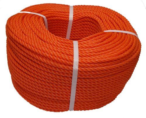 8mm Orange Polyethylene Rope - 220m coil