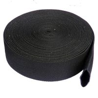 50cm Black PES Woven Sleeve for 24mm to 32mm Ropes