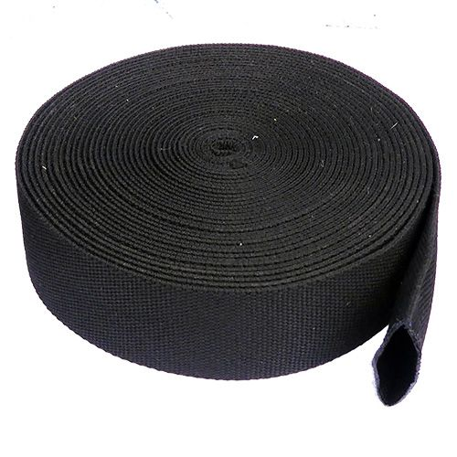 50cm Black PES Woven Sleeve for 14mm to 20mm Ropes