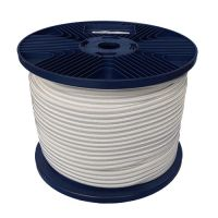 4mm White Shock Cord 100m reel