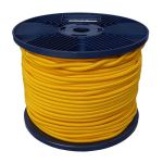 4mm Yellow Shock Cord 100m reel