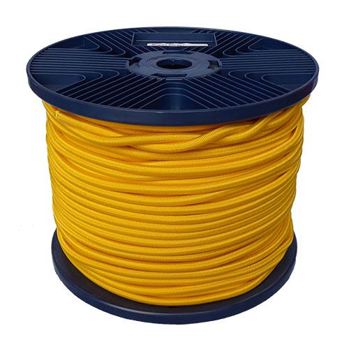 6mm Yellow Shock Cord 100m reel