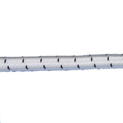 16mm White Fleck Shock Cord per metre
