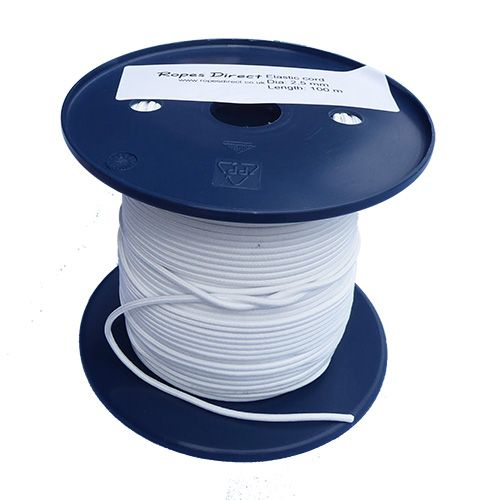 2.5mm White Shock Cord sold by the metre