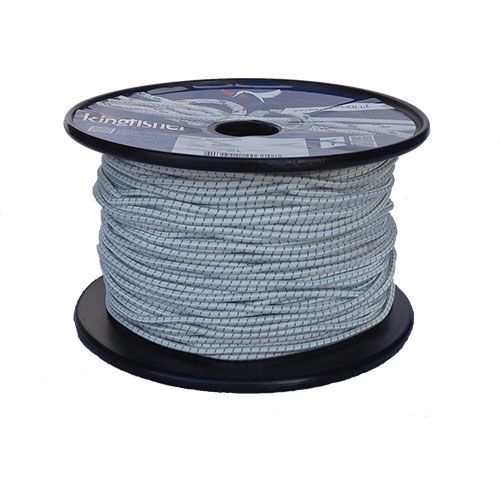 3mm White Fleck Shock Cord - 100m reel