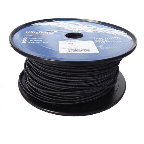 4mm Black Shock Cord sold on a 100m reel