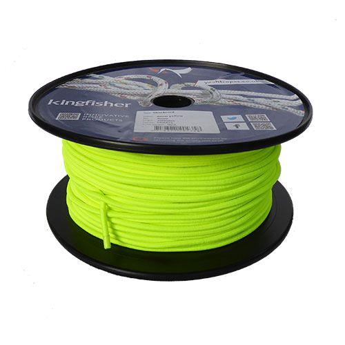 4mm Neon Yellow Shock Cord 100m reel