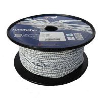 4mm White Fleck Shock Cord - 100m reel