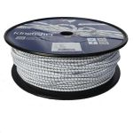 6mm White Fleck Shock Cord - 100m reel