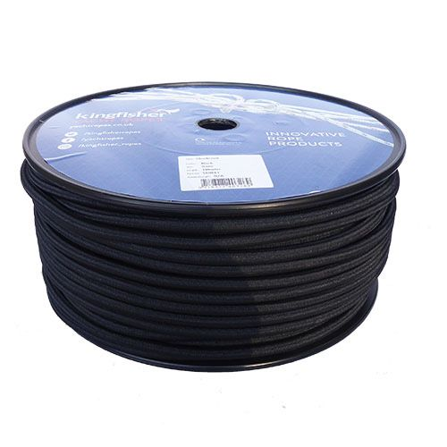8mm Black Shock Cord sold on a 100m reel
