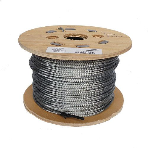 3mm 6x19 Steel Wire Rope on a 100m wooden reel