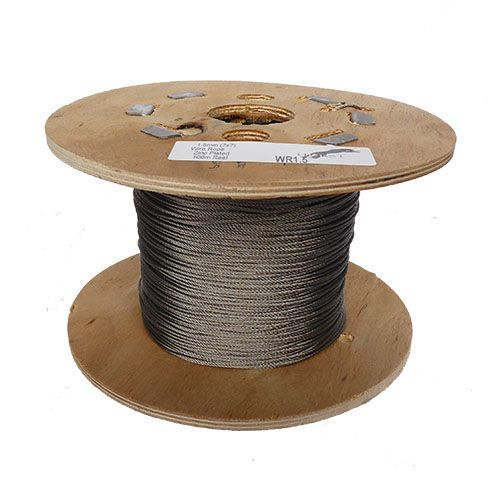 1.5mm x 100m 7x7 Galvanised Steel Wire Rope