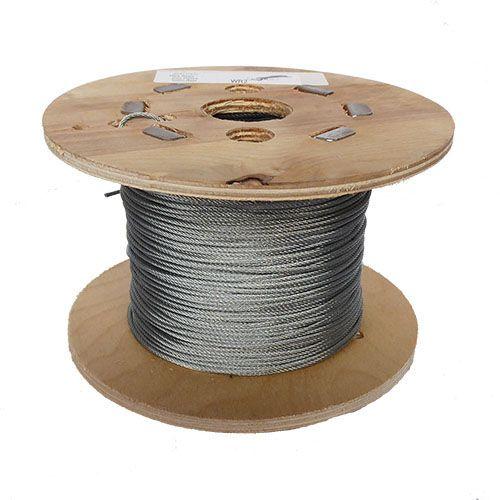 2mm x 100m 7x7 Galvanised Steel Wire Rope
