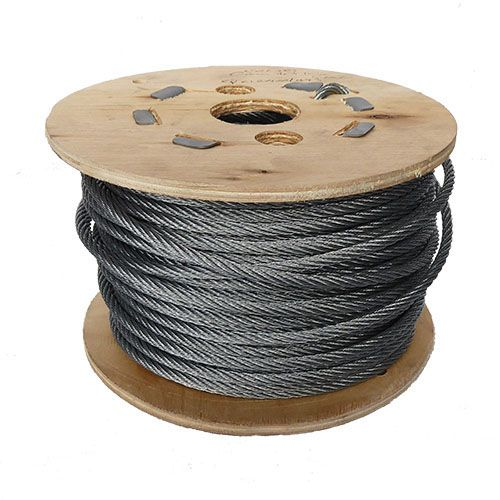 5mm x 50m 7x7 Galvanised Steel Wire Rope