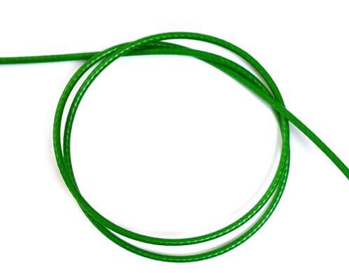 3mm Green PVC Coated Steel Wire Rope - 50m reel