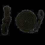1.5m 8mm Black Fender Ropes - Pair