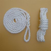 1.5m 8mm White Fender Ropes - Pair