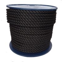 12mm Black Yacht Rope on a 50m reel