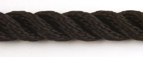 12mm Black Yacht Rope sold by the metre