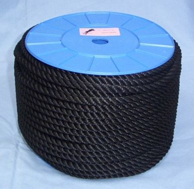 6mm Black Yacht Rope on a 200m reel