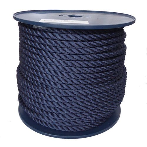 12mm Navy Blue Yacht Rope sold on a 100m reel