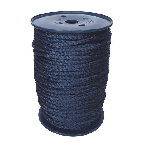 6mm Navy Blue Yacht Rope sold on a 100m reel