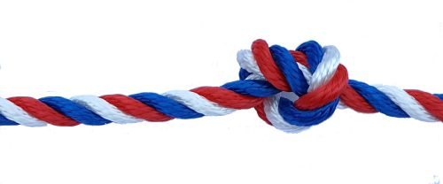 8mm Red White & Blue Yacht Rope sold by the metre