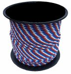 8mm Red White & Blue Yacht Rope - 200m reel