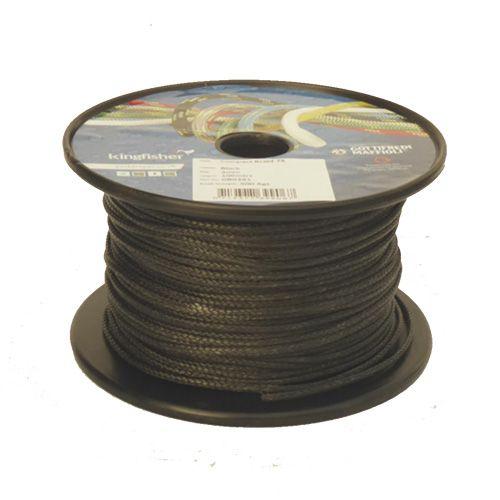 3mm Black Dyneema Compact Braid - 100m reel