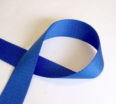 50mm Blue Toestrap Webbing sold by the metre