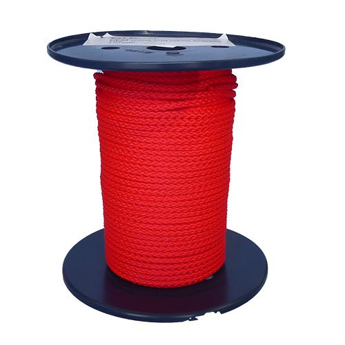 14mm Black/Green/Red Braided Reel End 90m