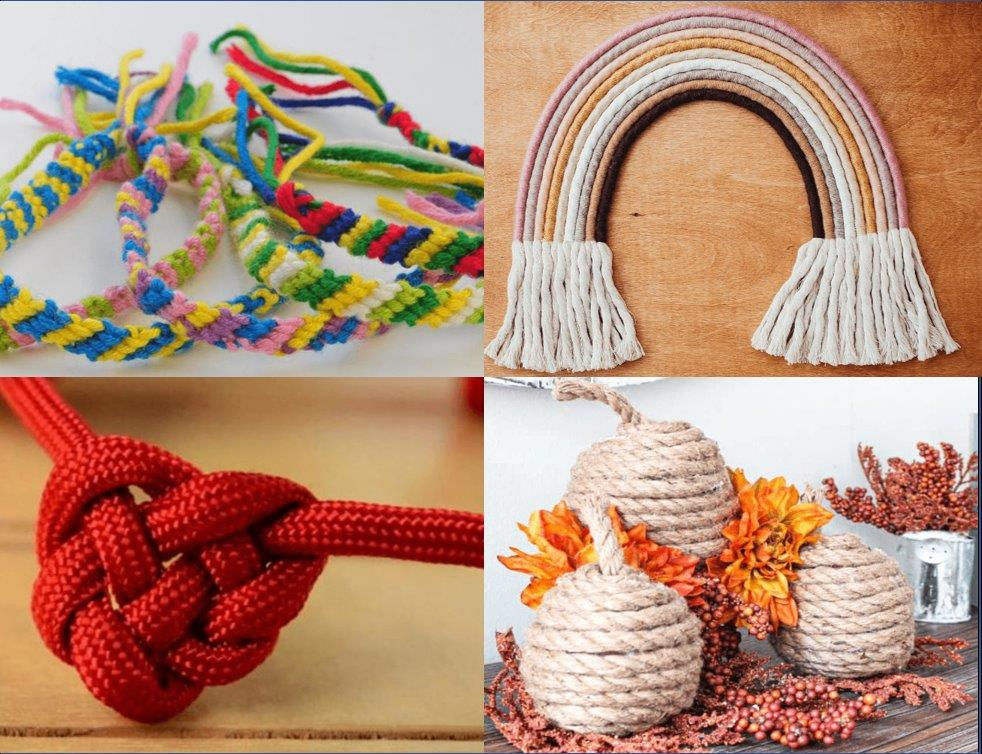 Rope and cords for crafts and hobbies