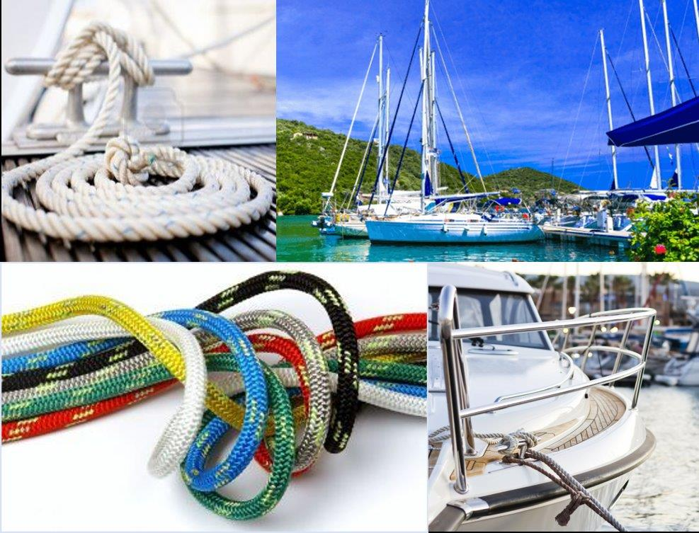 Rope and cord for marine and yachting