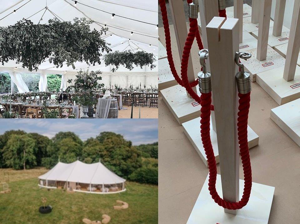 Rope for outdoor events and marquees, etcetera