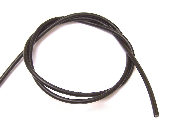 4mm Black PVC Coated Steel Wire Rope 50m Reel from Ropes Direct