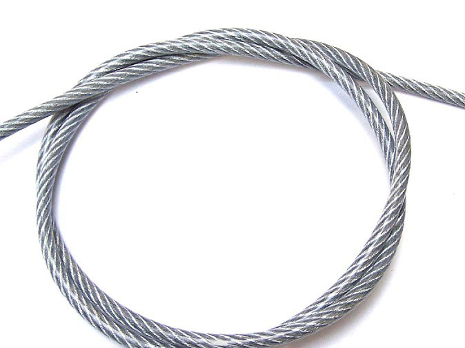 3mm Clear PVC Coated Steel Wire Rope 50m Reel from Ropes Direct